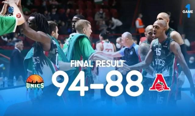 Eurocup, l'UNICS Kazan vince Gara 1