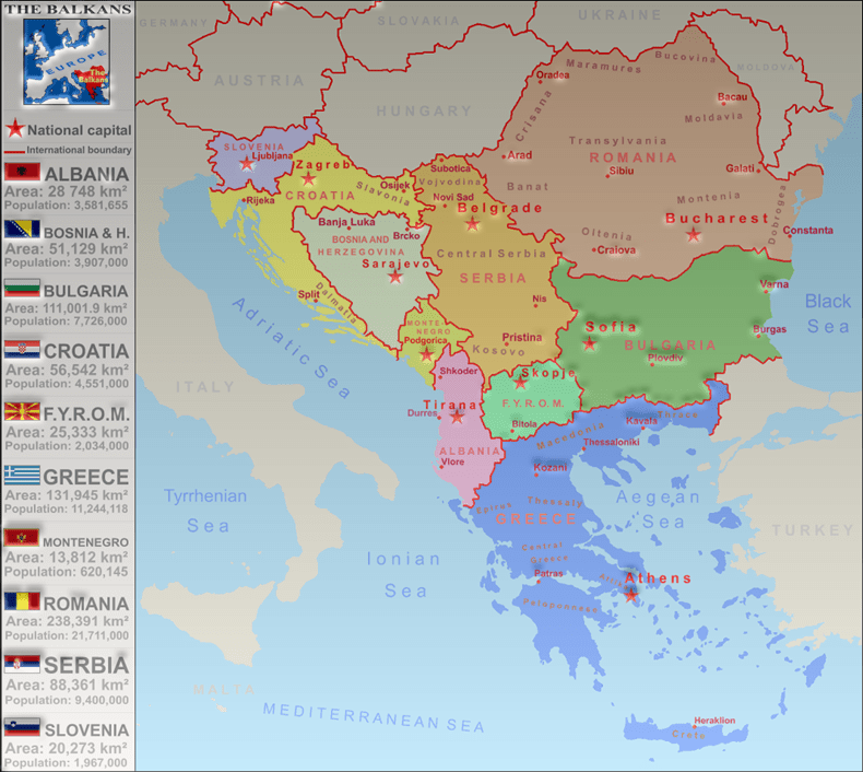 Balkan Countries Map   European Dialogue balkan map