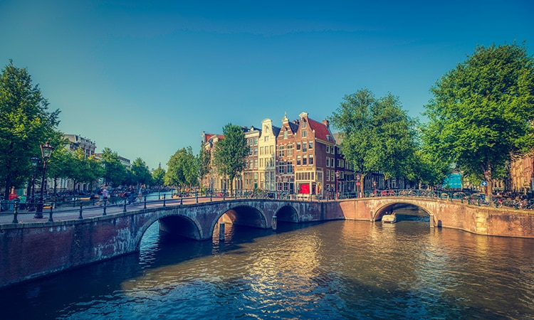 Vista da cidade de Amsterdam