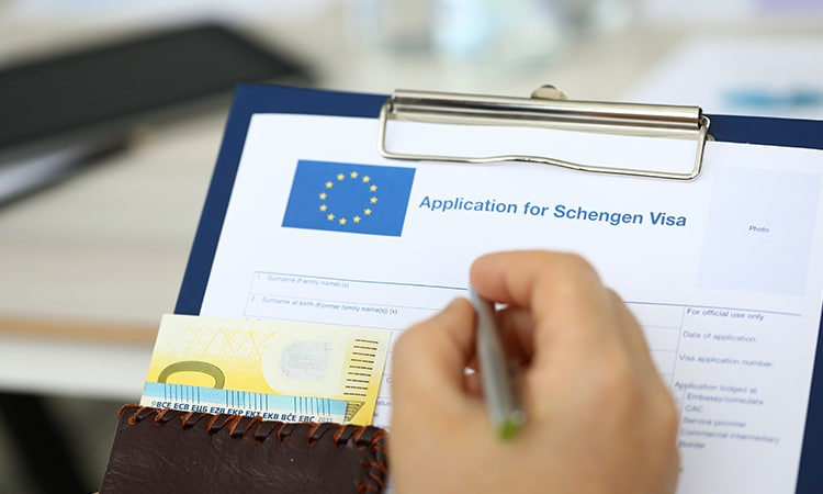 Schengen visa formulário