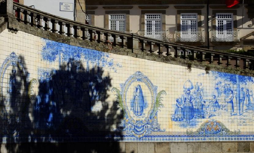 azulejos em Viseu Portugal