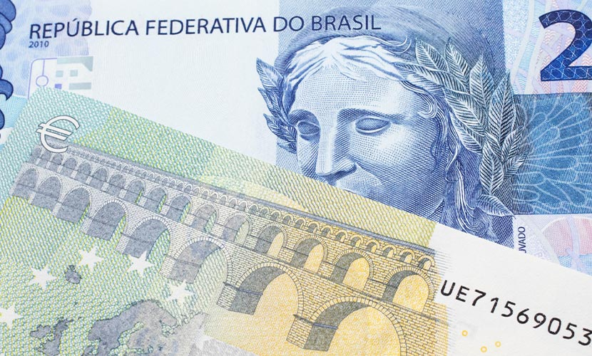 câmbio real euro barato