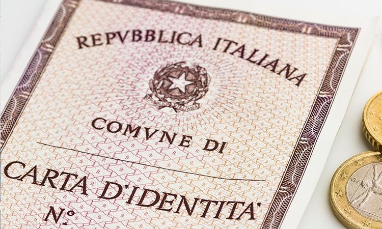 certidão de identidade italiana