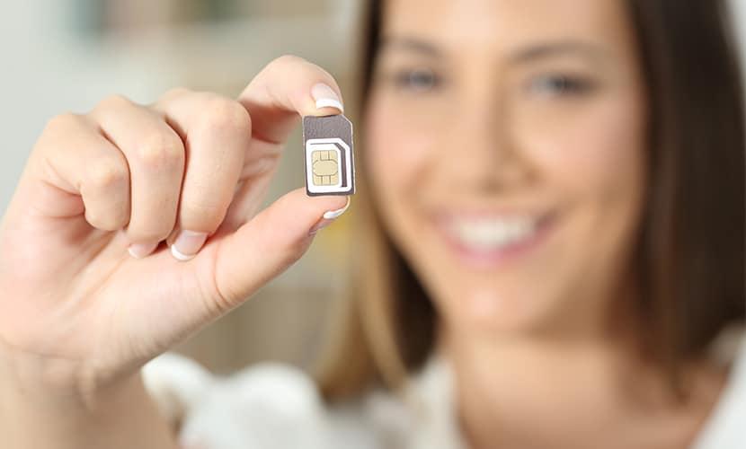 Chip de celular na Europa usuária