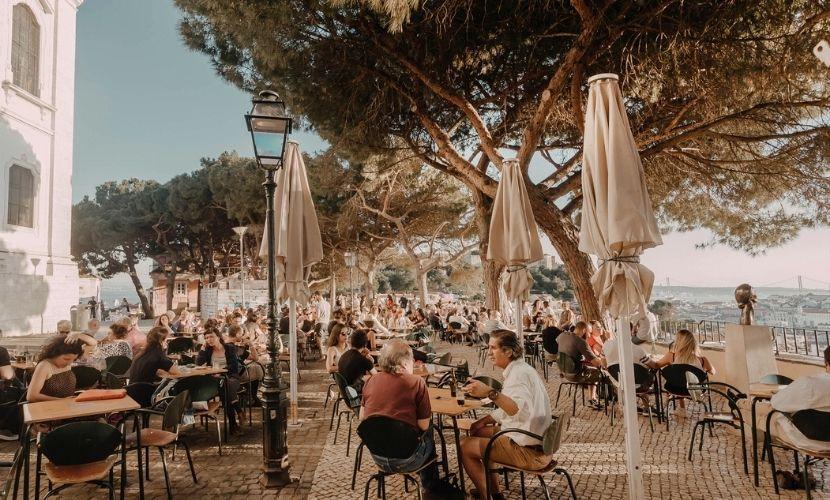 Esplanada restaurante Lisboa