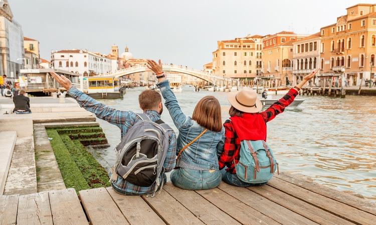Estudantes na Itália