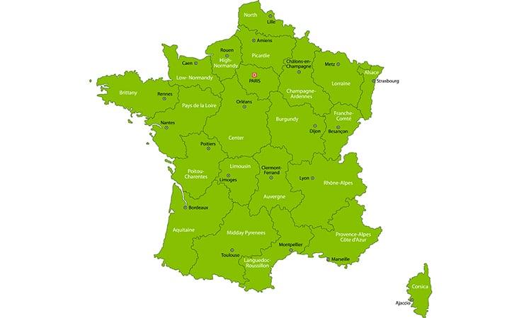 mapa franca