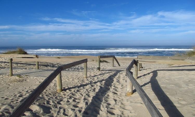 praia em aveiro