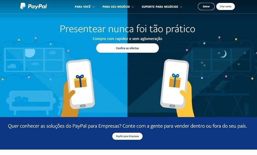site do PayPal
