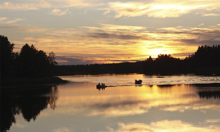 sol da meia noite na Suécia