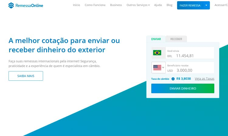 taxa iof remessa online
