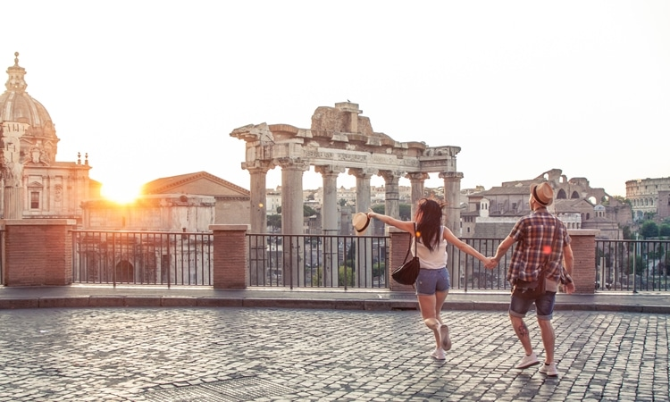 Viajar para a Itália casal