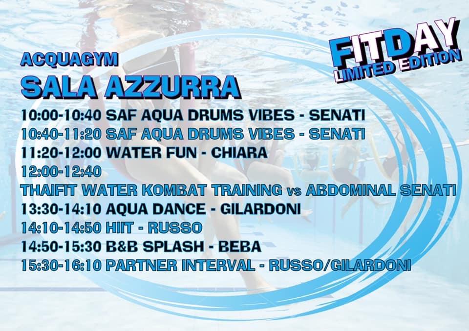 Programma evento acqua fitness 10/11