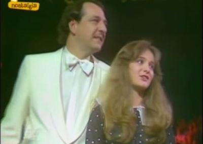 Nicole Hohloch con Ralph Siegel, l'autore del brano vincitore