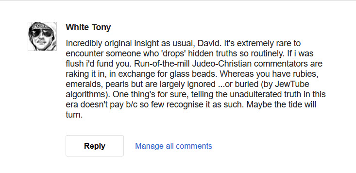 great comments about David james in Boston