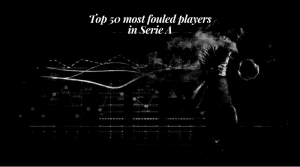 Top 50 most fouled players in Serie A
