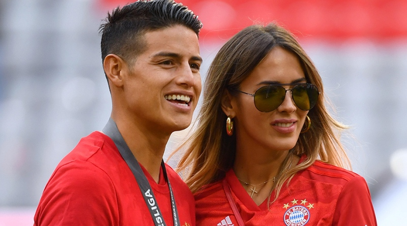 James Rodriguez and Shannon De Lima