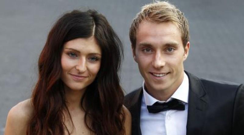 Christian Eriksen and Sabrina Kvist Jensen