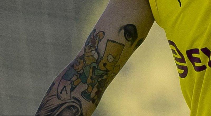 Jadon Sancho's Tattoo