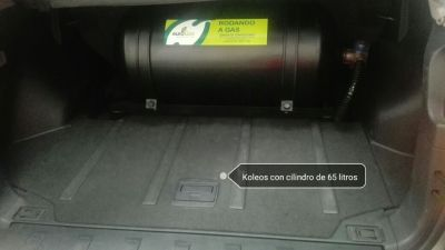 Koleos con cilindro de 65 litros