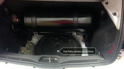 Fiat Palio con cilindro de 40 litros