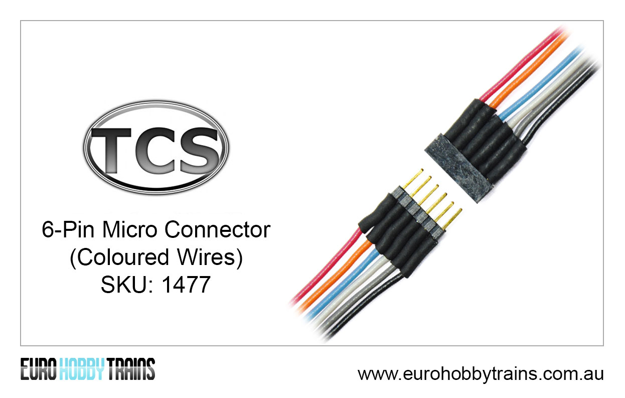 Tcs Dcc 6 Pin Micro Connector Coloured Wires Sku