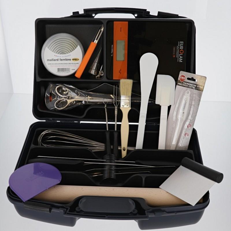 mallette couteaux et ustensiles top patisserie pro 27 pieces
