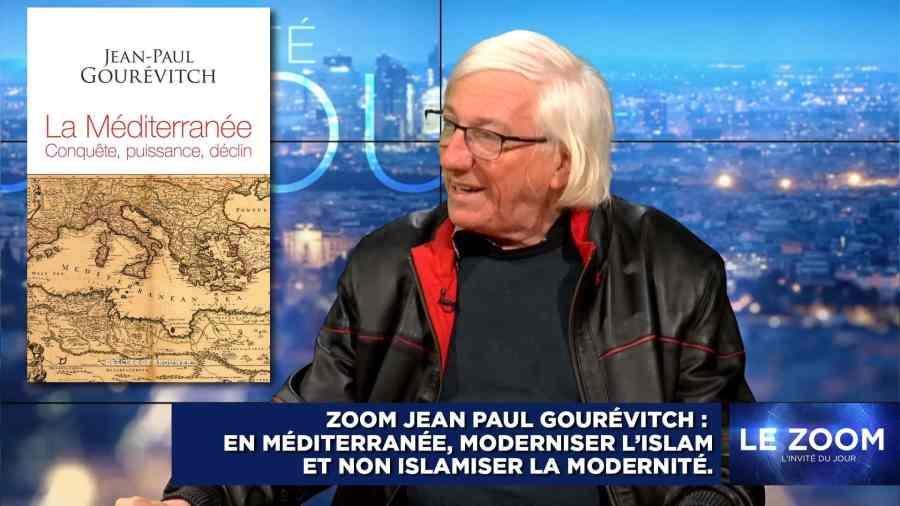 JEAN-PAUL GOUREVITCH, QUI A PUBLIÉ EN 2018 UN SAVANT OUVRAGE SUR LA MÉDITERRANÉE : CONQUÊTE, PUISSANCE, DÉCLIN (DESCLÉE DE BROUWER).