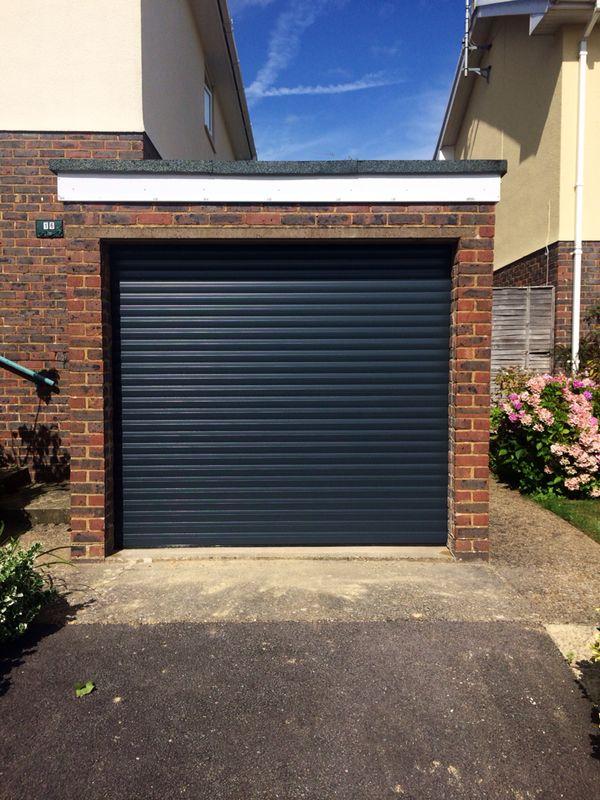 single black garage door