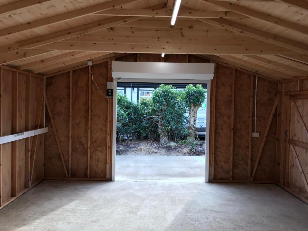 internal view roller garage door