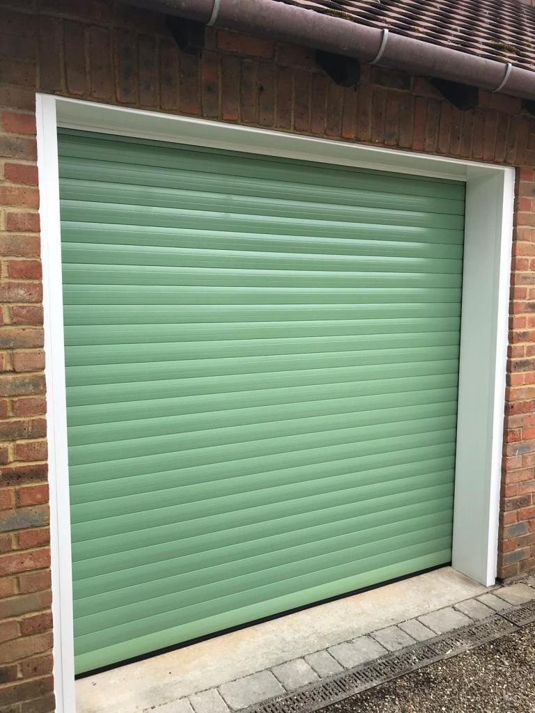 Heritage Green Euroll UK Roller Garage Door