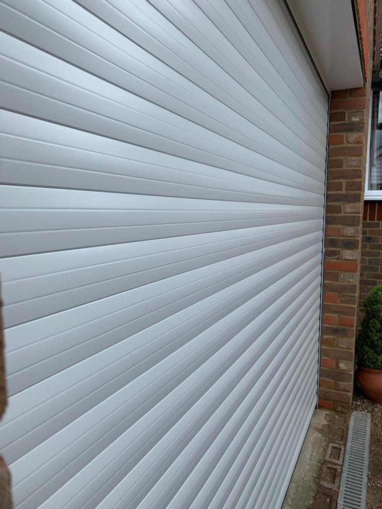 White 77mm Classic Euroll UK Roller Garage Door