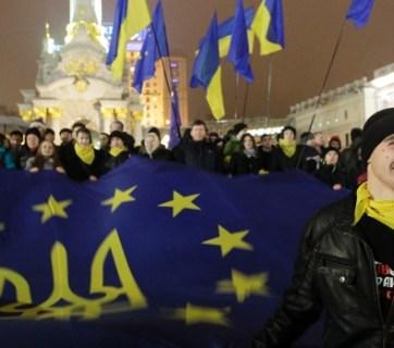 Ukrainians on the Maidan protesting the criminal and oppressive regime of Yanukovich, 2014