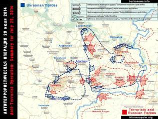 Die Situation in den östlichen Regionen der Ukraine 29.Juli 2014