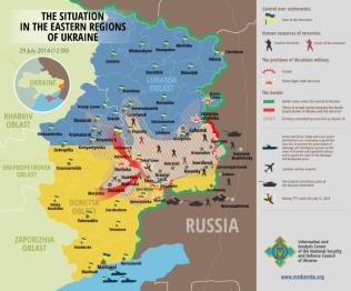 Die Situation in den östlichen Regionen der Ukraine 28. Juli 2014