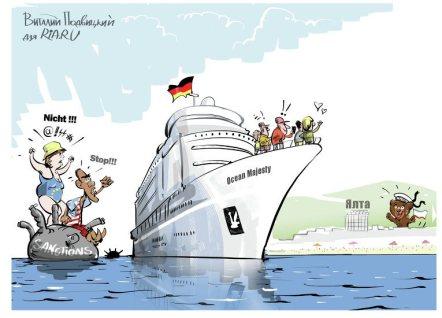 """""""Sanktionen sind Sanktionen, aber die Kreuzfahrt läuft nach Plan"""" - Foto: ria"""