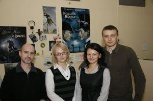 Frogwares's Pascal Ensenat, Anna Poperko, Olga Ryzhko and Volodymyr Gorodnychyi