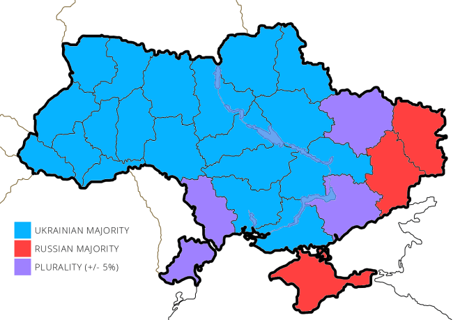Ukraine language map
