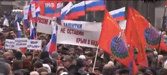 """Filmstill aus dem Video """"Wir lassen die Krim nicht alleine."""""""