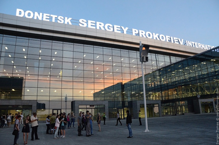 Donetsk airport after completion of its renovation on May 14, 2012