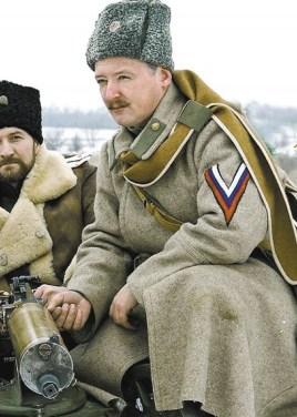 Igor Girkin als Weißgardist beim Kriegspielen zwischen den realen Kriegseinsätzen.