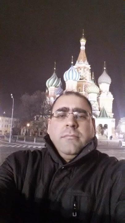 """Vladimir Djukanovic, Mitglied der Serbischen Fortschrittspartei und """"Beobachter"""" der terroristischen """"Wahlen"""", Moskau, 31. Oktober 2014"""