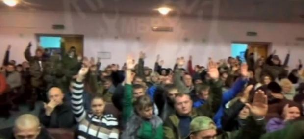"""First """"Peoples Court"""" in Novorossiya: voting for death penatly"""