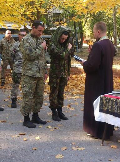 Wedding in the Right Sector battalion
