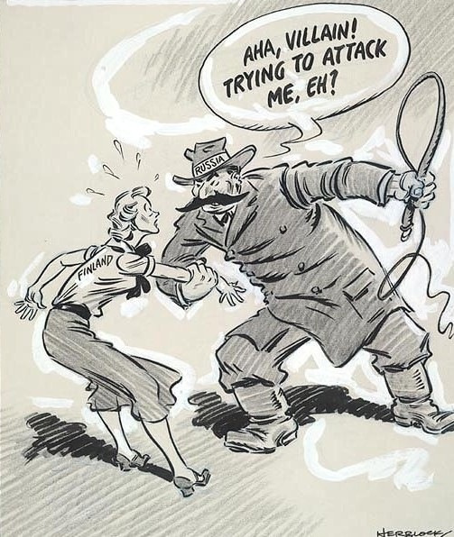 Russia-Finland-Cartoon
