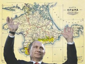 Putin celebrating the Crimea Anschluss, 2014
