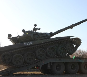Russian tank near Ukrainian border