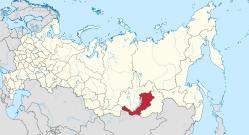 Republic of Buryatiya. Map from Wikipedia