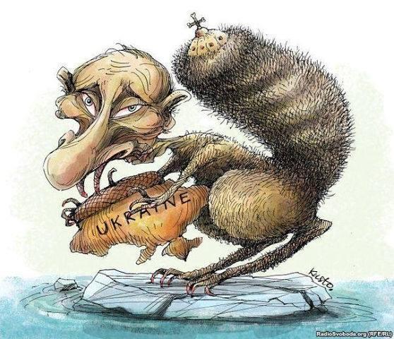 putin squirrel with ukraine cartoon