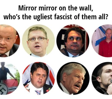 Selected participants in the world fascist forum in St. Petersburg, Russia in March 2015